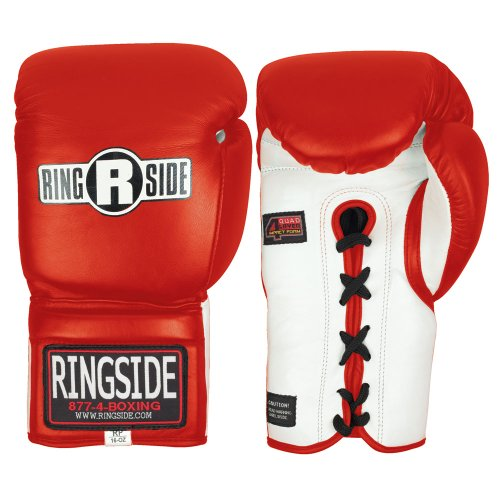 Ringside Safety Sparring Gloves - Lace (Red, 14-Ounce)