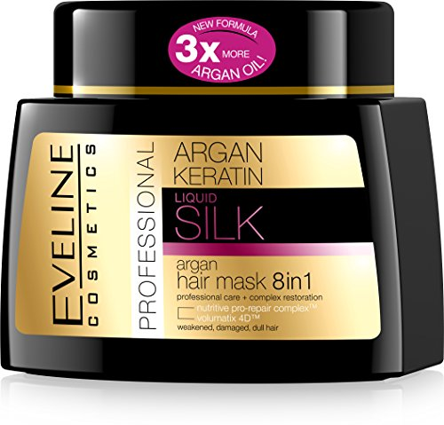 Eveline Cosmetics Liquid Silk Professional ARGAN HAIR MASK 8IN1 with Argan and Keratin from Eveline Cosmetics
