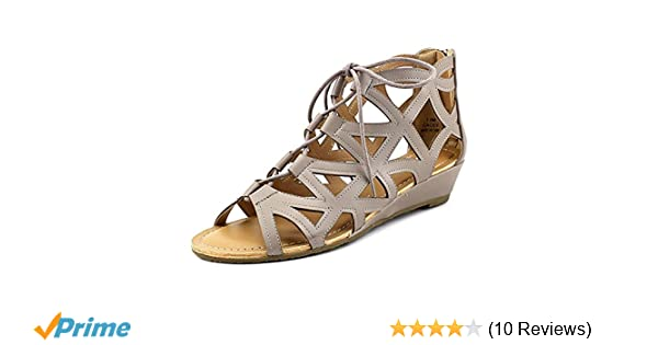 ef5229aa2b Amazon.com | Esprit Cacey Lace-Up Wedge Sandals Elephant 11M | Platforms &  Wedges
