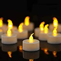 Flameless Flickering Tealight Candle with Remote Control CR2450 Long Lasting Battery Operated Remote Control Tea Lights…