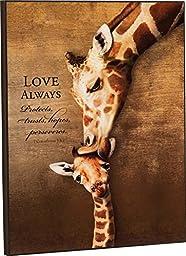 Love Always Giraffe Mom Kiss 16 x 12 Wood Wall Art Sign Plaque