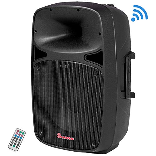r, 2-Way Portable Professional DJ PA Speaker with Remote Control (15