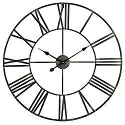 Aspire Solange Round Metal Wall Clock, Gray