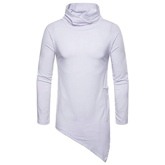 Los Hombres Ocasionales de Moda otoño Invierno Gargantilla Outwear Tops suéter Blusa de Internet