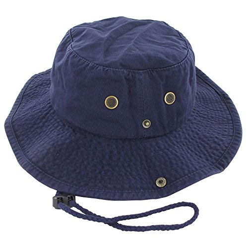 Navy_(US Seller)Cotton Hat Boonie Bucket Cap Summer Men Women Lowa Red Shoes