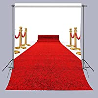 FUERMOR 5x7ft Polyester Red Carpet Photography Backdrops Wedding Events Photo Props RQ022