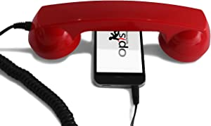 OPIS 60s Micro: Retro handset/Vintage handset/Retro Receiver/Mobile handset for iPhone, Galaxy, Huawei and All Modern Smartphones (red)