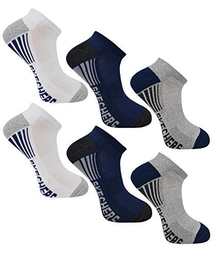 Chaussettes Mens Skechers, Doublure De Chaussures Sport (6 Paires Asst) Couleur 4