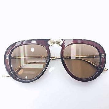 Gafas De Sol,Espejo Redondo Plegable Moda Gafas De Sol para ...