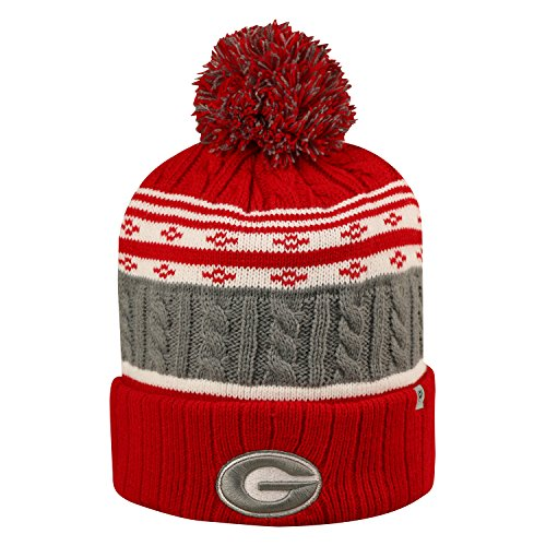 Georgia State Bulldogs (Georgia Bulldogs Official NCAA Cuffed Knit Altitude Beanie Stocking Stretch Sock Hat Cap by Top of the World 810133)