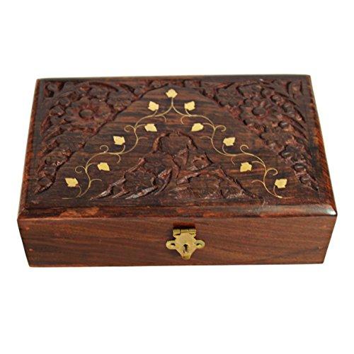 Decorative Jewelry Boxes Ideas : Handmade decorative wooden jewelry box with free lock