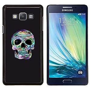 YiPhone /// Prima de resorte delgada de la cubierta del caso de Shell Armor - Cráneo Surf gris fresco de la Muerte cuenca del ojo - Samsung Galaxy A7 A7000