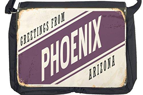 Borsa Tracolla Voglia Viaggiare Città Phoenix USA Stampato