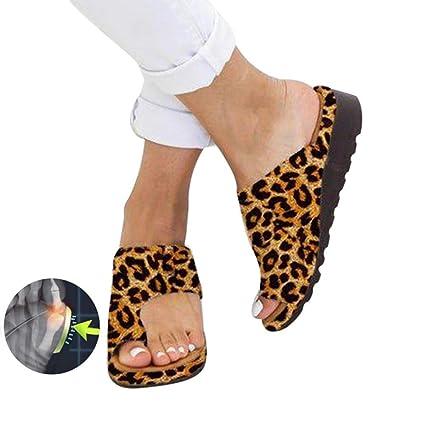 Las mujeres sandalias Zapatillas Zapatos ortopédicos juanete Corrector cómoda plataforma cuñas sandalias casuales de las señoras