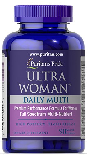 Puritan's Pride High Potency Timed Release Ultra Woman Daily Multi, 90 Coated Caplets For Sale
