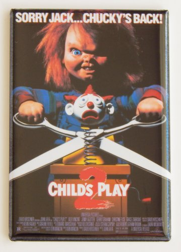 Child's Play 2 Movie Poster Fridge Magnet (2 x 3 inches)