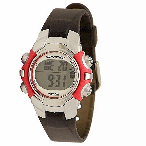 Timex Women's Marathon | Red/Black w Alarm, Stopwatch | Sports Watch T5K807 by Timex (Image #2)