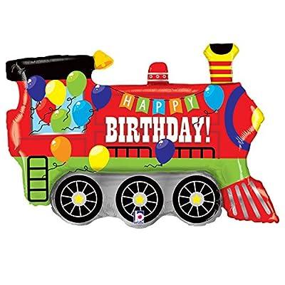"""Burton & Burton Birthday Party Train Engine Shape Toy Foil Balloon, 37"""": Toys & Games"""