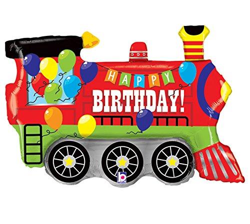 (Burton & Burton Birthday Party Train Engine Shape Toy Foil Balloon, 37