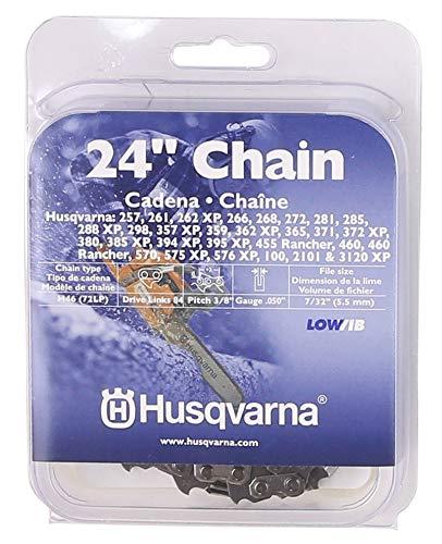 Husqvarna Chainsaw Chain 24-Inch .050 Gauge 3/8 Pitch Low Kickback Low-Vibration