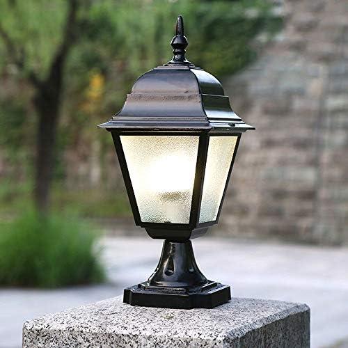 ZGYZ E27 Glassäulenlampe Außensäule IP54 wasserdichte Straßenlaterne Nacht Nacht draußen Sicherheit Terrassenbeleuchtung Dekorative Gartenlaterne