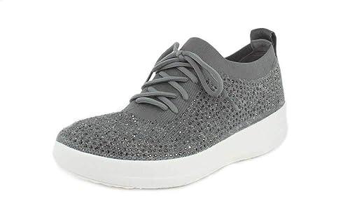 12d0e4d99605 Fit Flop Women s F-Sporty Uberknit Sneakers - Metallic Trainers  Buy ...