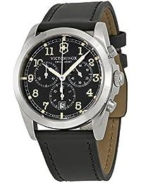 Swiss Army Men's 241588 Black Leather Watch