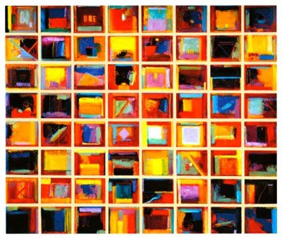 64 Abstract Paintings by Gary Max Collins - 50x42.5 Inches - Art Print Poster ()