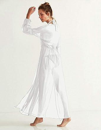 Amazon.com: Maxi vestido largo de encaje para playa, vestido ...