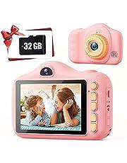 Kids Camera,TONDOZEN 3.5 inch Kid Digital Video Selfie Cameras for Kids,Children's Digital Camera with 32GB SD Card,Best Birthday for Girls Age 3-12