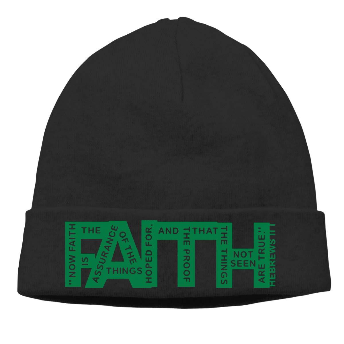 Nskngr Faith Hebrews Cap Men Women Oversized Baggy Plain Skull Beanie Skull Cap