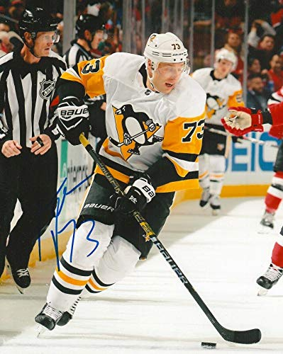 Autographed Jack Johnson Picture - PITTSBURGH PENGUINS 8X10 COA - Autographed NFL Photos