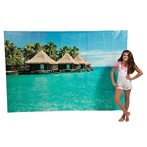 "Fun Express 108"" X 72"" Tropical Cabana Backdrop Plastic Bann"