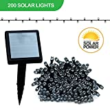 Touch of ECO LITEUP200 Solar String Lights, White, 68'