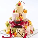 新杵堂 9種のミニロールを自己流アレンジで楽しむロールケーキタワー 18個 [ 誕生日ケーキ・バースデーケーキ ]