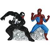 Westland Giftware Magnetic Ceramic Salt and Pepper Shaker Set, Spider Man vs. Venom, Multicolor