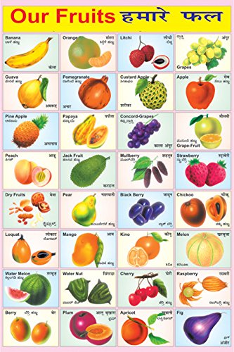 Fruit name in hindi and english with picture