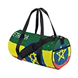 Distressed Ethiopia Flag Travel Duffel Shoulder Bag ,Sports Gym Fitness Bags