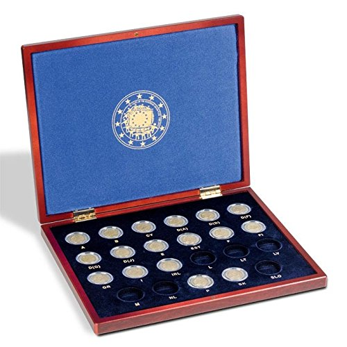 VOLTERRA UNO presentation case for 23 European 2€ commemorative coins 30 yrs. of EU flag (Commemorative Flag Cases)
