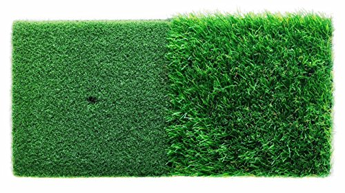 StrikeDown Dual-Turf Golf Hitting Mat (24in x 12in) [Wedges, Irons, Hybrid, Woods, Driver]
