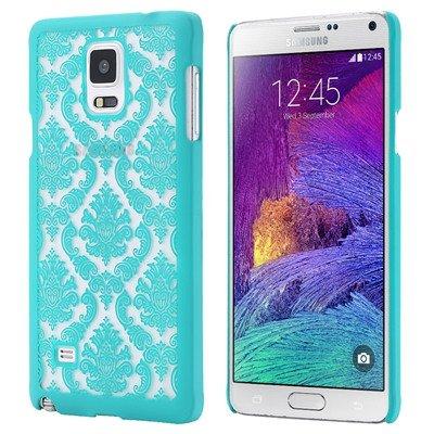 Caja del gel de TPU ultra cristalino fino suave claro para Samsung Galaxy Note N9100 4 IV Teléfono contraportada Bolsa Nota4 FLM verde