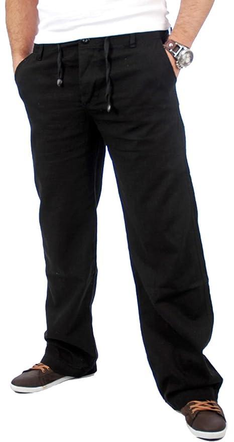 Reslad Leinenhose Männer Chino Herren-Hose lockere Sommer Stoffhose Freizeithose aus bequemer Baumwolle lang RS-3000