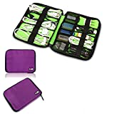 Bubm Universal Cable Organizer Electronics Accessories Case USB Drive Shuttle/ Healthcare & Grooming Kit (Dis Purple-small)