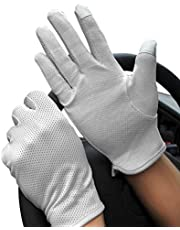 JINTN Men Boys Summer Non-Slip Driving Gloves UPF50+ UV Protection Gloves Sunblock Outdoor Golf Gloves for Bike-Riding Hiking Cycling Hiking