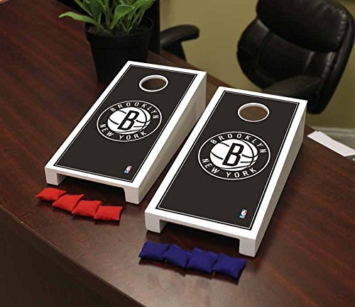 Victory Tailgate Brooklyn BKN Nets NBA Basketball Desktop Cornhole Game Set Border Version by Victory Tailgate