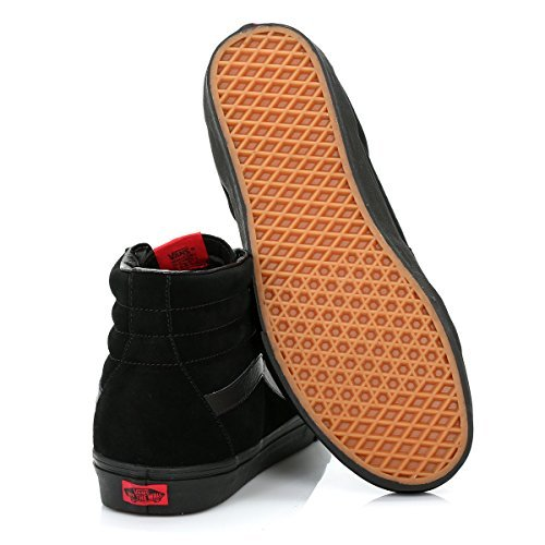 Vans Sk8-Hi Unisex Casual High-Top Durable Skate Shoes, Comfortable and Durable High-Top in Signature Waffle Rubber Sole B001EZXOO4 10.5 B(M) US Women/ 9 D(M) US Men|Black/Black b690e4