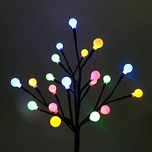 Solar Garden Lights, SUPSOO 2 Pack Solar Ball Lights Patio Lights for Garden Pathway Flowerbed Christmas Decoration – Multicolor