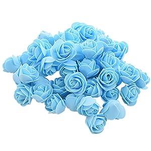 bromrefulgenc 50Pcs Mini 3.5cm Foam Roses Artificial Flower Wedding Bride Bouquet Party Decor 95