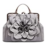 SUNROLAN Women's Evening Clutches Handbags Formal Party Wallets Wedding Purses Wristlets Ethnic Totes Satchel (Gray)