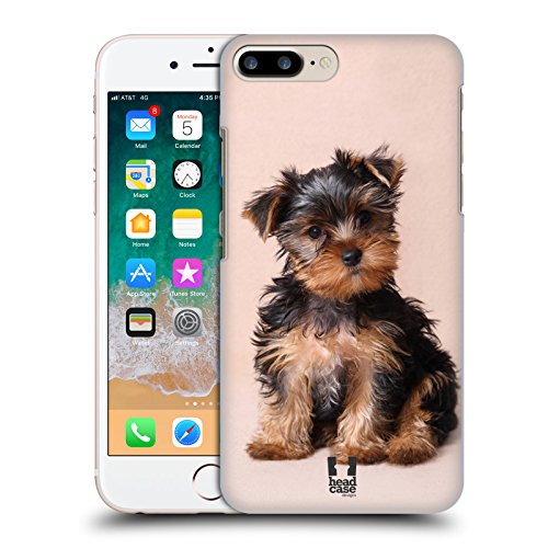 Head Case Designs Yorkshire Terrier Puppy Popular Dog Breeds Hard Back Case for Apple iPhone 7 Plus / 8 Plus